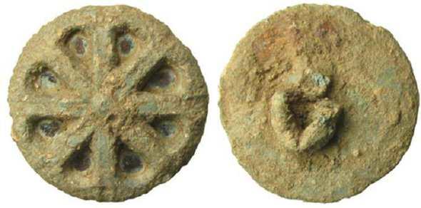 Древняя пуговица