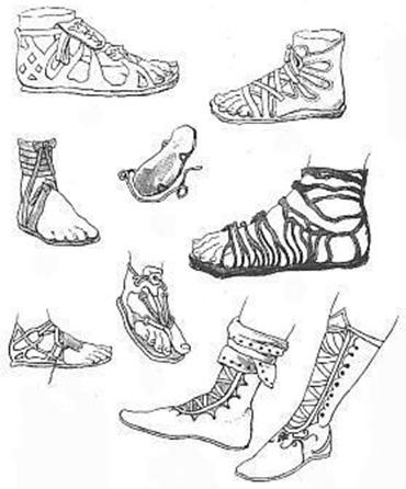 Древнегреческая обувь
