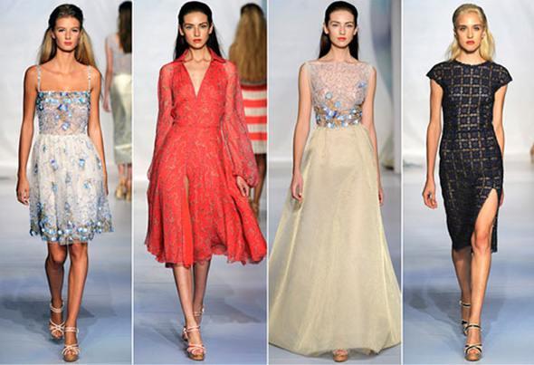 Модели женских вечерних платьев